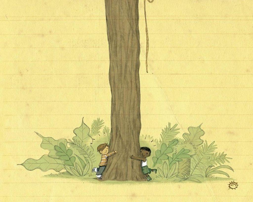Ilustrace z knihy Můj táta byl v džungli